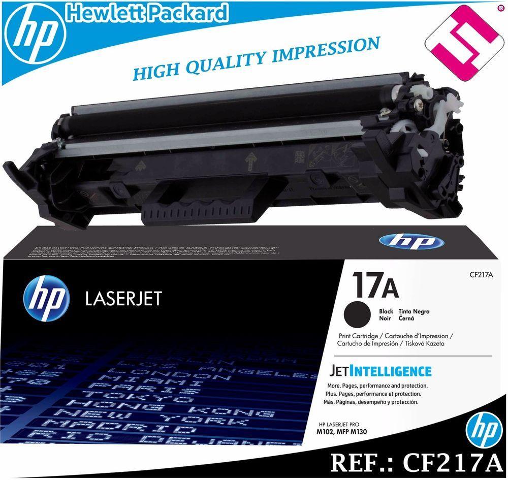 Toner Cf217a Original Cartucho Negro Para Impresoras Hp Laserjet 17a Borongan Cartridge 001 Genuine
