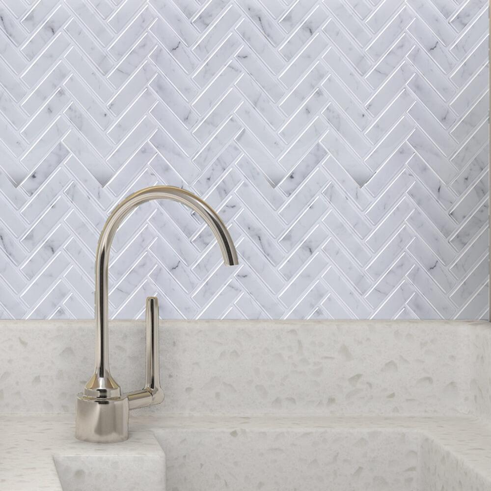 12 X12 Self Adhesive Wall Tile Stick On Tiles Backsplash Upgrade