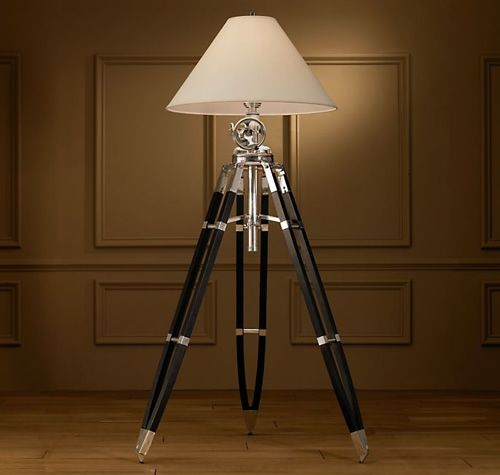 This Reproduction Of A British Surveyor S Tripod Is Ideal If You Re Looking For A Substantial Centerpie Tripod Floor Lamps Tripod Lamp Modern Tripod Floor Lamp