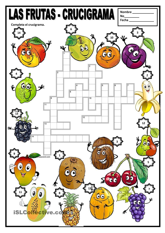 coloring pages las frutas spanish - photo#40