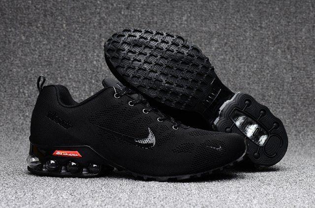 28c968894f Nike Air Ultra Max 2018. 5 Shox Triple Black Red Mens Running Shoes ...