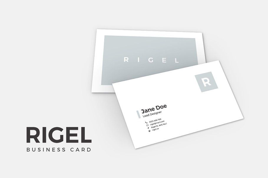 Rigel Business Card Template Business Card Template Business Card Photoshop Brochure Template