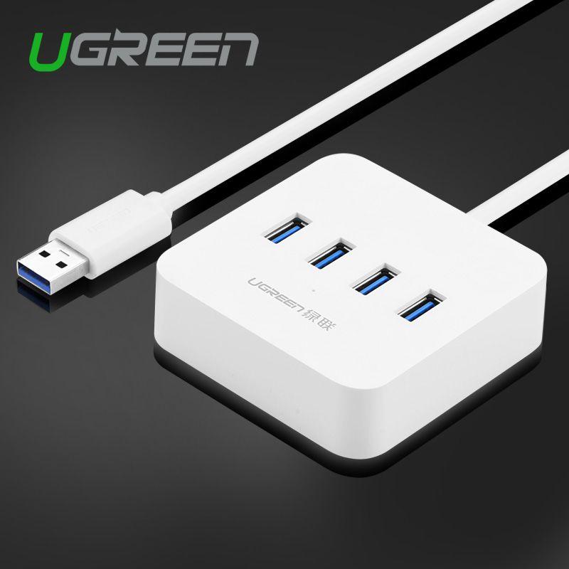 Ugreen USB 2.0 Hub 4 Port USB OTG Hub Splitter Switch for Mac Windows Linux PC