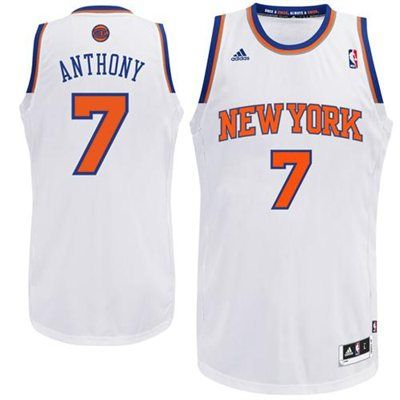 b8303175 adidas Carmelo Anthony New York Knicks Revolution 30 Swingman Home Jersey -  White