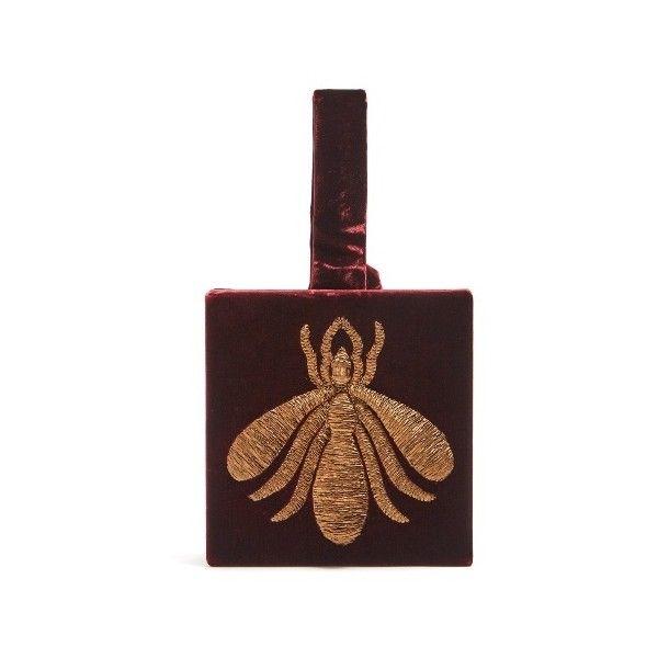 Ragno embroidered velvet box clutch Sanayi 313 amGuOMOG6c
