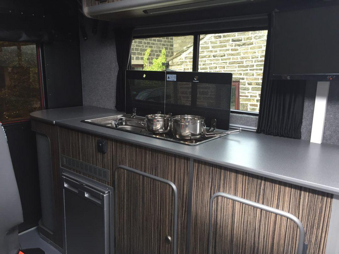 Campervan kitchen with images motorhome rentals