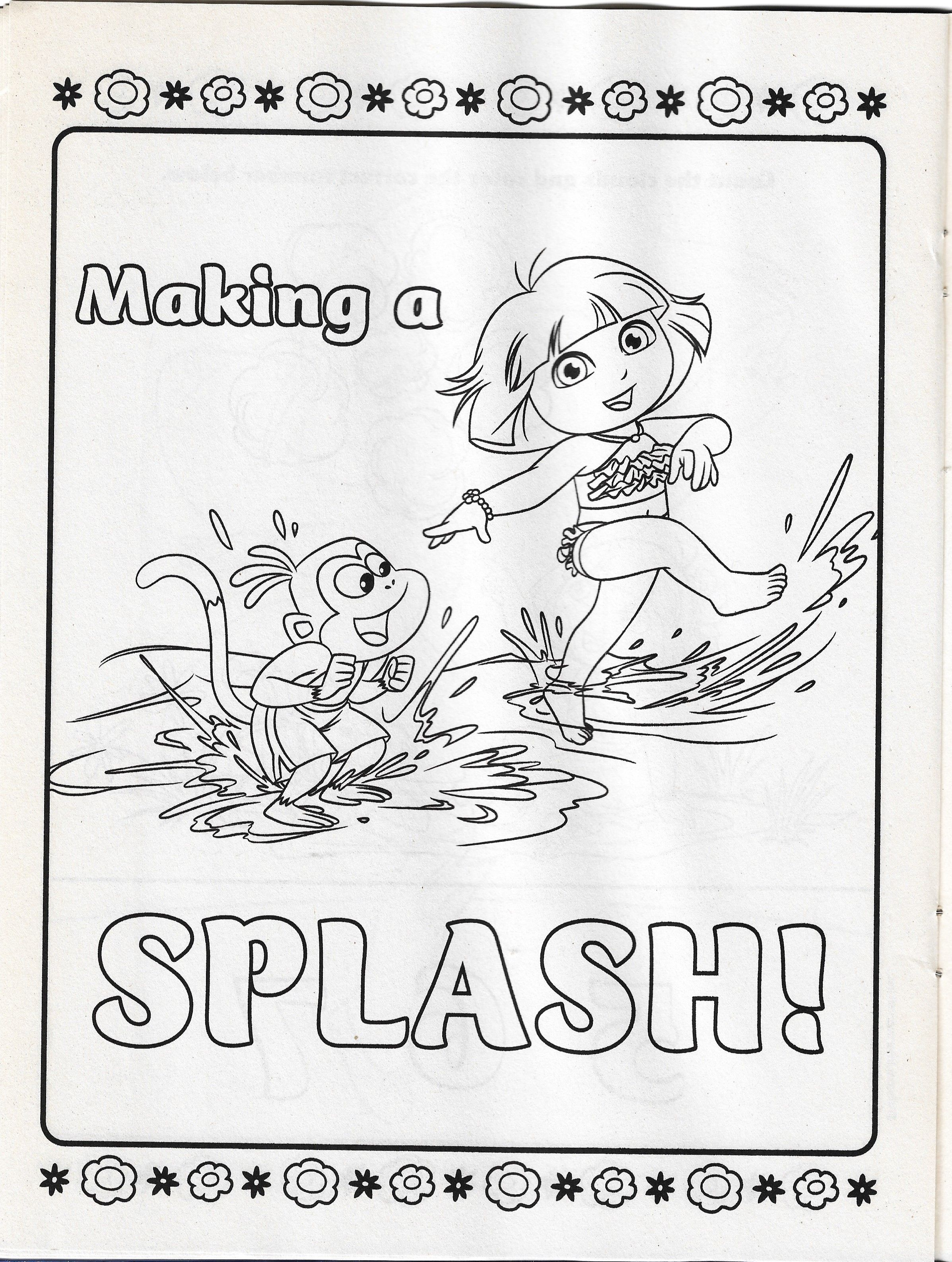 Dora The Explorer Exploring Outdoors Coloring Page Coloring