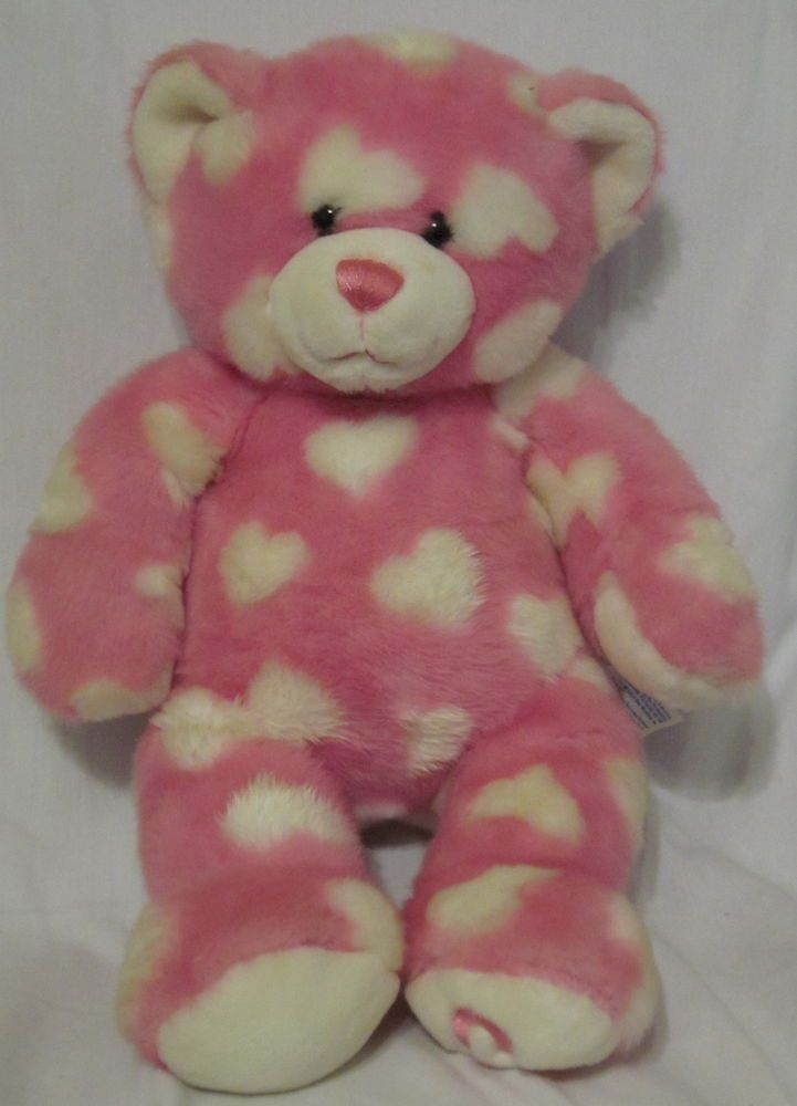 c51f9cf28f7 Press this one of the paws of this Heart Themed Build A Bear and hear