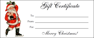 Free Printable Santa Gift Certificates  Christmas Decorating