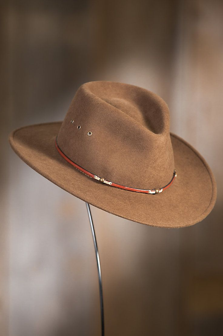 90643f7d827 Stay cool and in style whether roaming the city or riding on the range in  our Wildwood Crushable Wool Hat.
