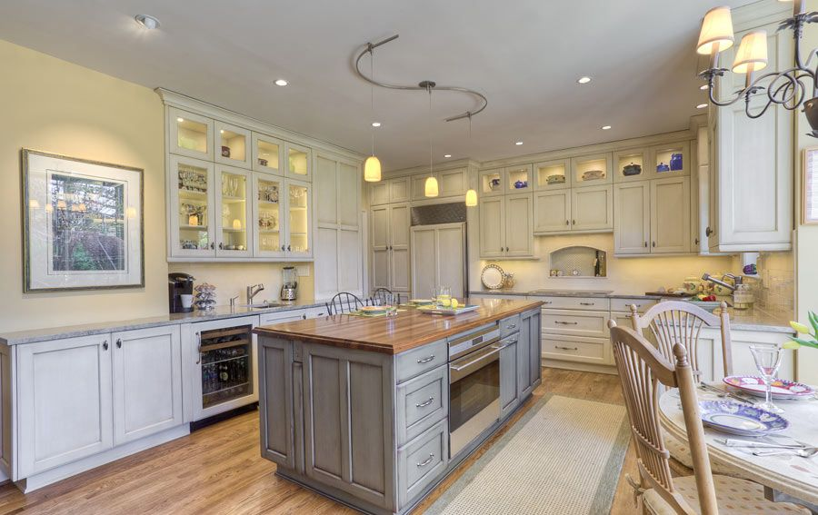 custom walnut wood kitchen countertop in bethesda maryland kitchen. Black Bedroom Furniture Sets. Home Design Ideas