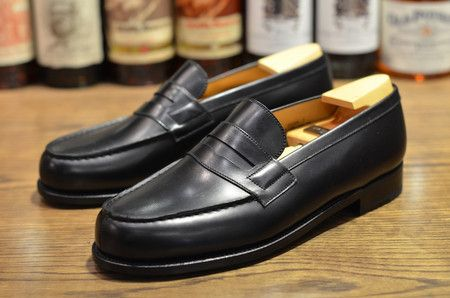 J.M. Weston Leather Penny Loafers cheap sale fast delivery cheap sale fashion Style outlet store for sale buy cheap under $60 Cheapest cheap price l9gZh
