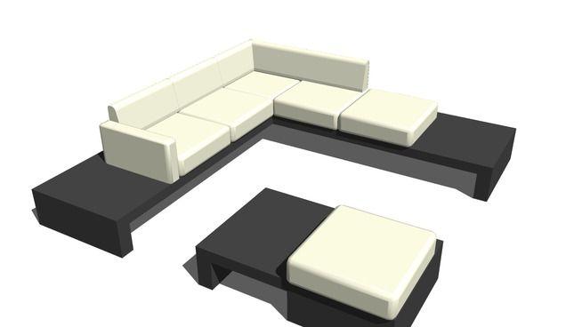 table sofà - 3D Warehouse