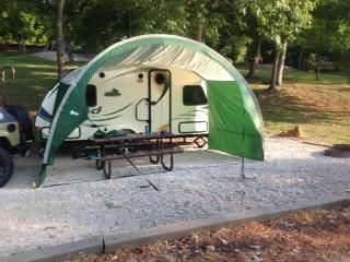 R Pod Trailer Awning By Pahaque Fits All Models In 2020 Trailer Awning R Pod Camping Hacks