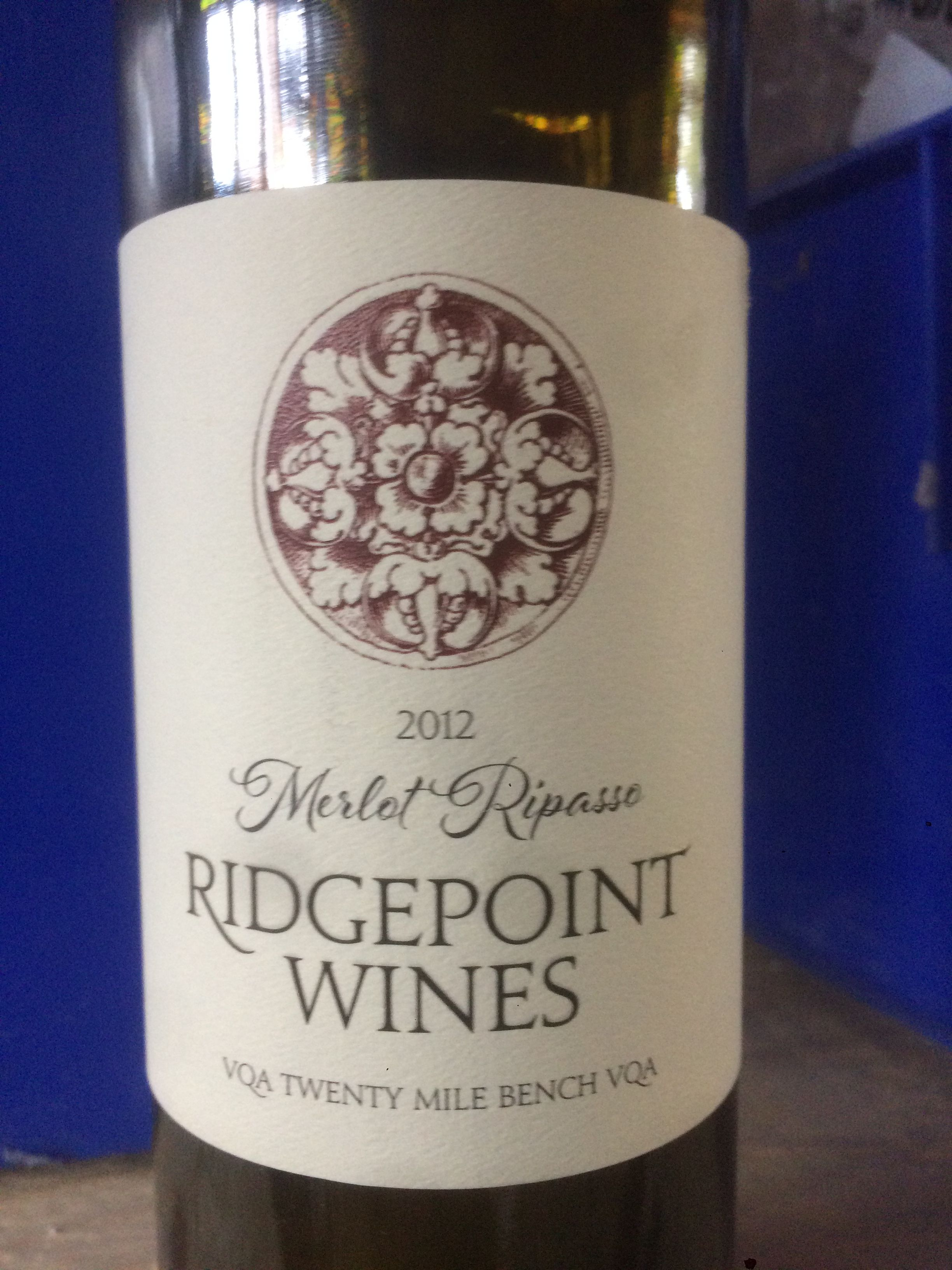 Great value ontario red wine from ridgepoint wines in 2020