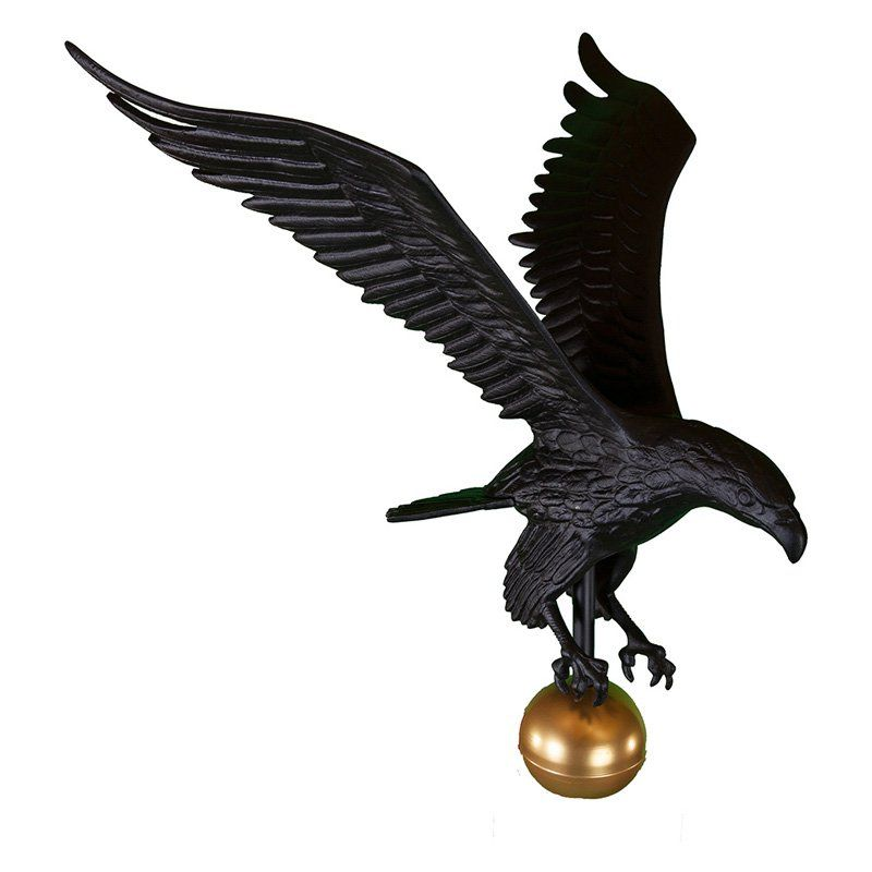 """7/"""" Handcrafted Gold Eagle Finial Top Paint For 16FT 20/' 25/' Telescopic Flag Pole"""