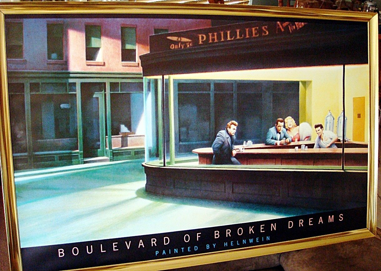 For Sale Is A Mint Print Copy Of Helnweins 1984 Painting Boulevard