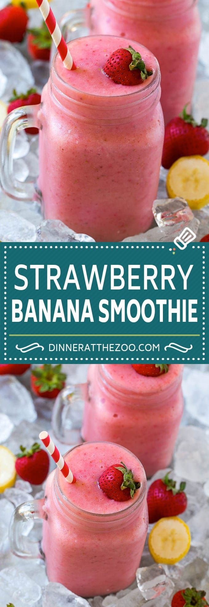 Strawberry Banana Smoothie - Dinner at the Zoo