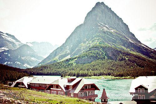 Almost Switzerland Many Glacier Hotel Near Babb Montana W N