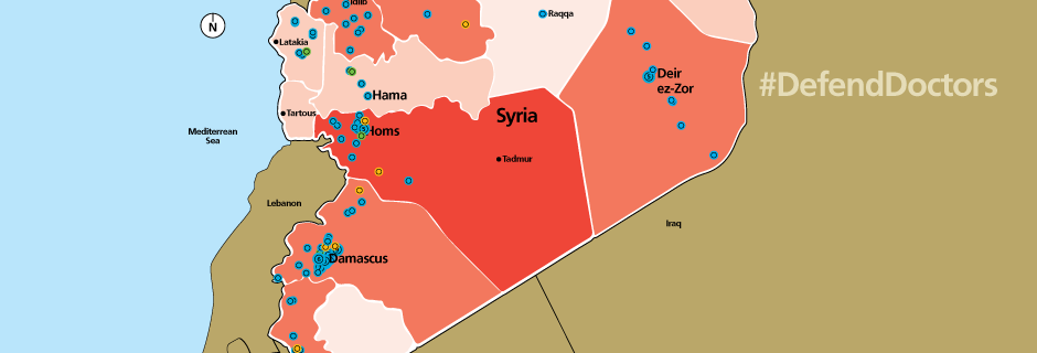 New map from Physicians for Human Rights shows that government forces are deliberately attacking Syria's medical system.