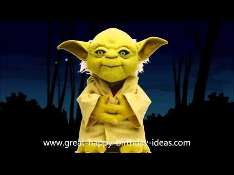 Yoda Sings Happy Birthday to YOU (It's Funny!) - YouTube