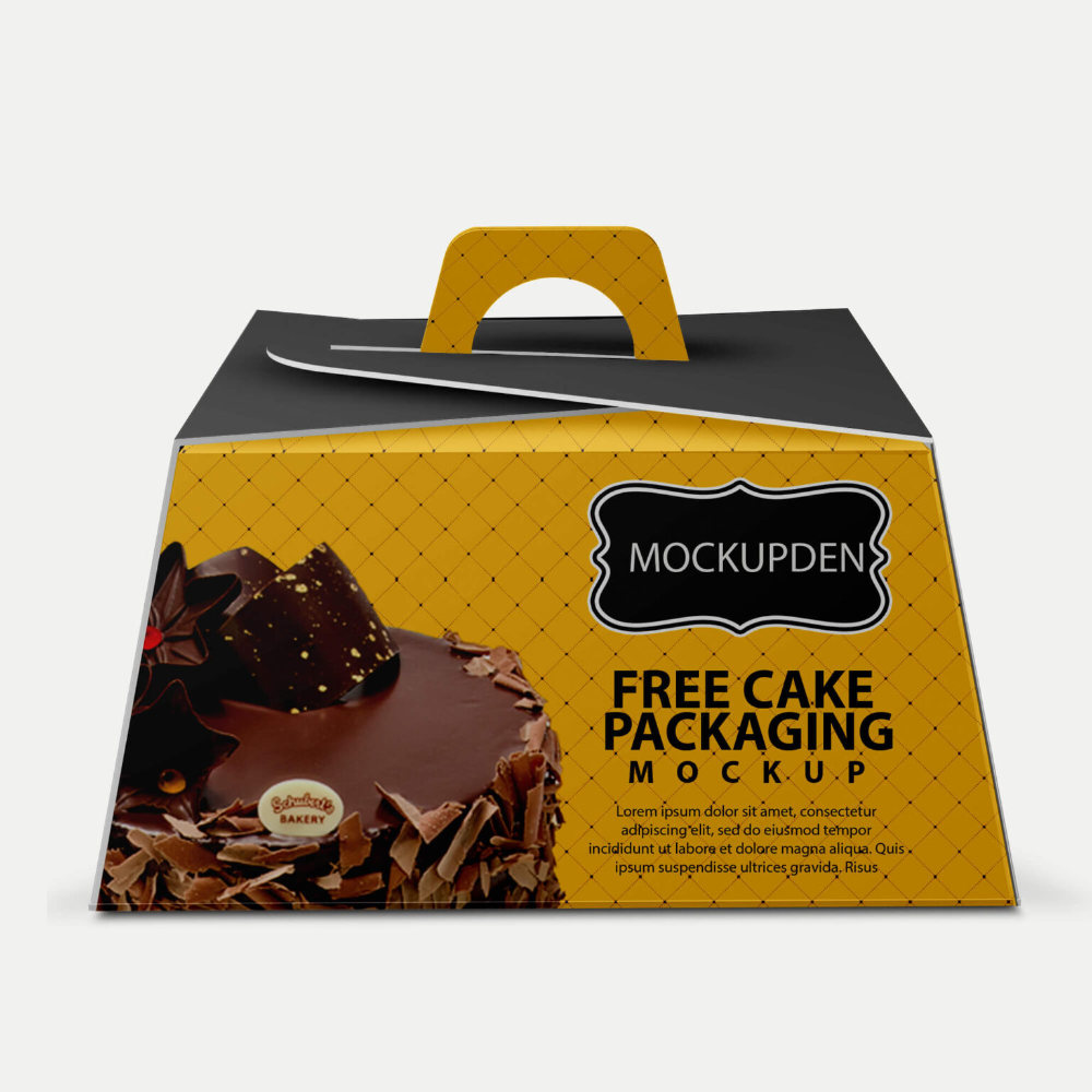 Download Free Cake Packaging Mockup Psd Template 4 Packaging Mockup Cake Packaging Psd Templates