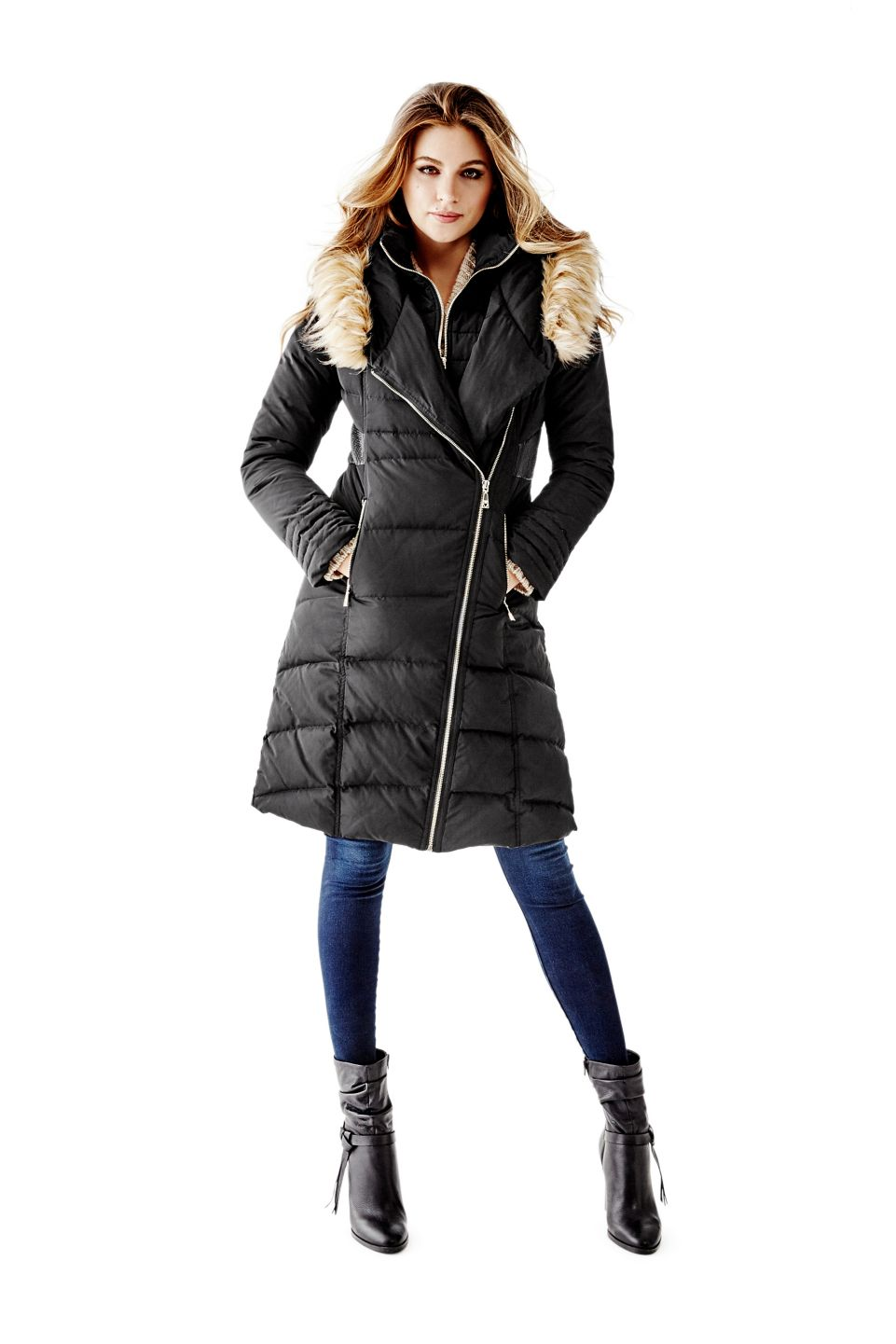 07900b7a58ef For the Beauty  Flora Down Puffer Coat   GUESS.com  GUESSHoliday ...