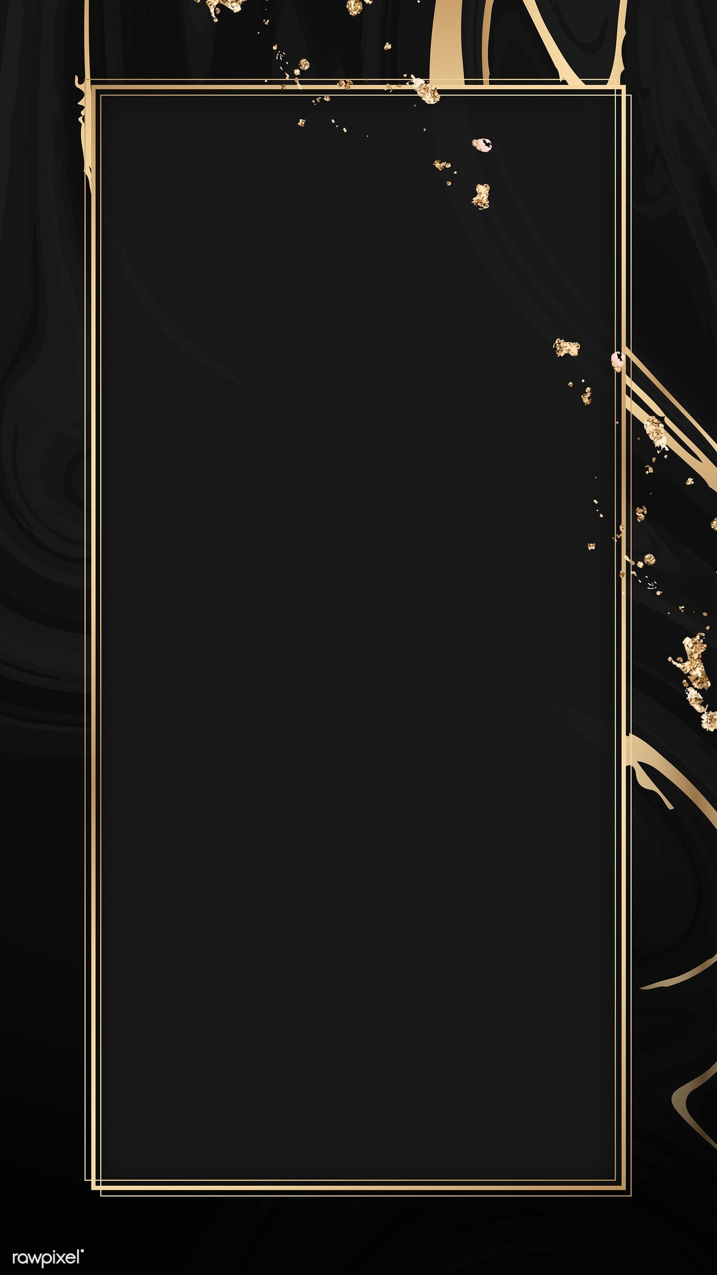 Gold Frame On A Black Fluid Patterned Mobile Phone Wallpaper Premium Image By Rawpixel Com Kapp Sparkle Wallpaper Phone Wallpaper Patterns Framed Wallpaper