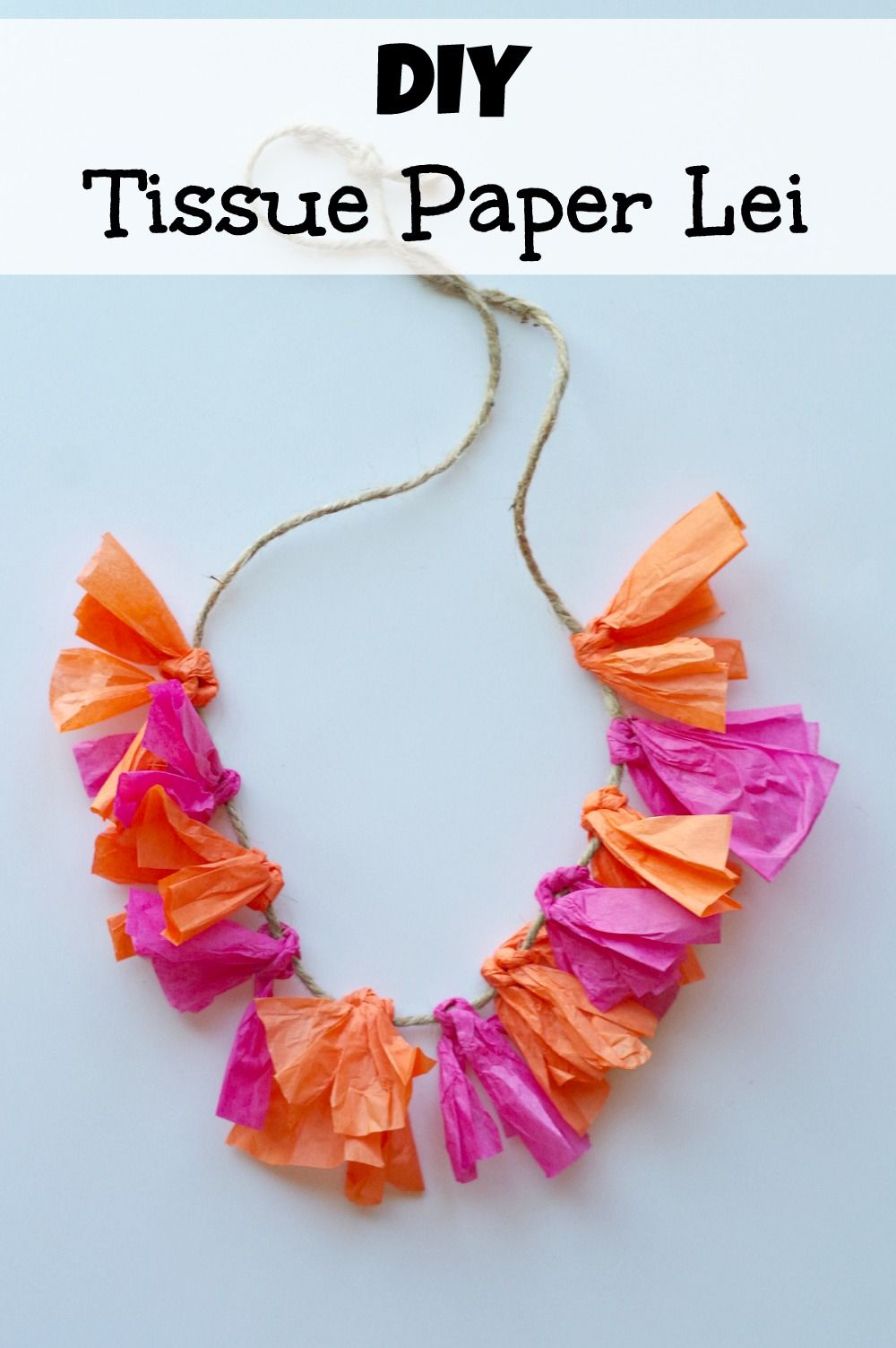 Quick easy way to make a tissue paper lei pinterest summer this tutorial shows a quick and easy way to make a tissue paper lei its perfect for summer parties especially hawaiian or pool party themes izmirmasajfo