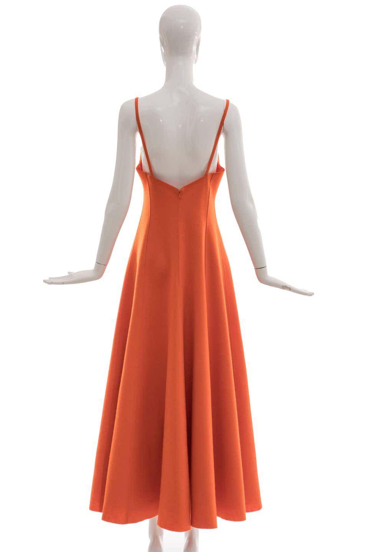 Ralph Lauren Collection Wool Felt Evening Dress Fall 1999 Evening Dresses Dresses A Line Evening Dress [ 1440 x 960 Pixel ]