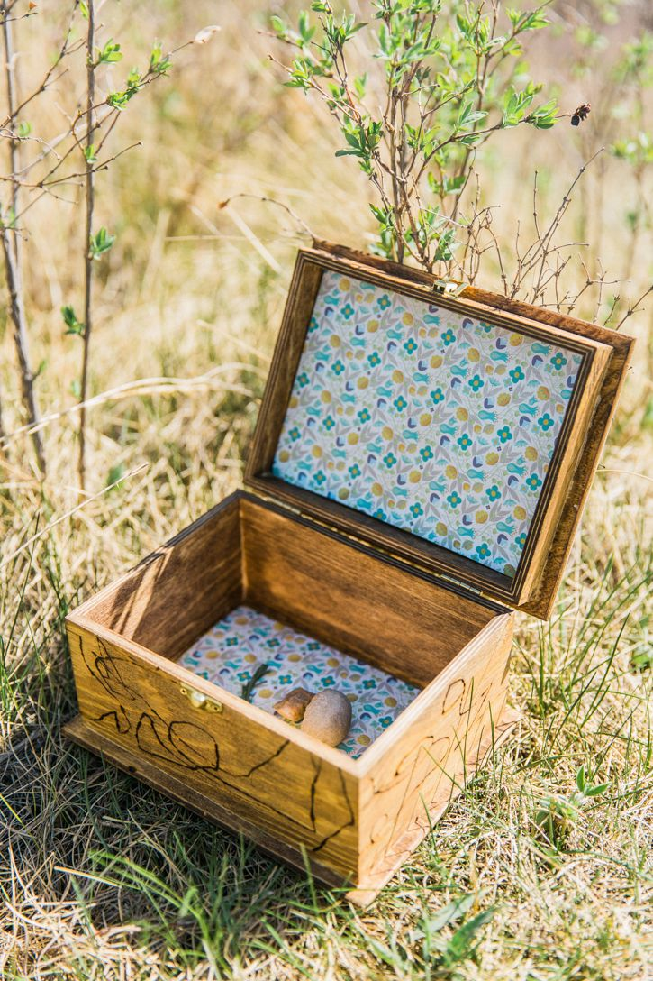 Create a Treasure Box for Collecting Nature this summer with the kids.