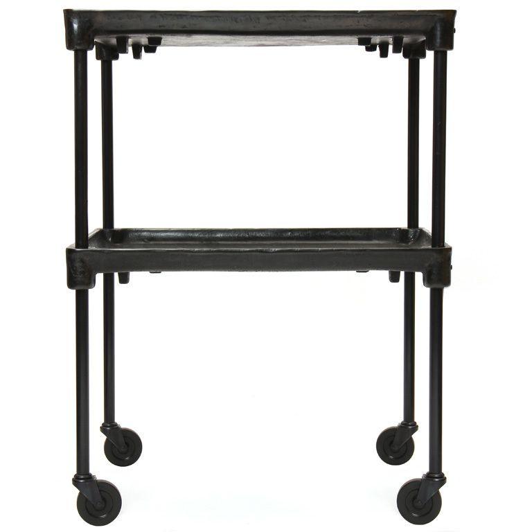 adjustable height industrial cart