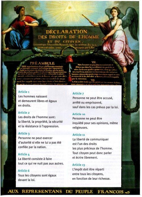 Jpeg 129 Ko Declaration Des Droits De L Homme Droits De L Homme Ecole Elementaire