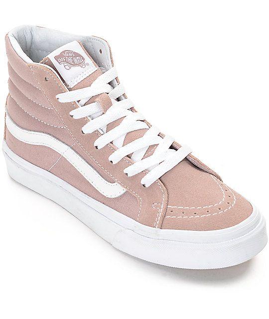 Vans Sk8 Hi Fawn Mauve Womens Skate Shoes Mit Bildern Vans Schuhe Damen Schuhe Damen Schuhtrends