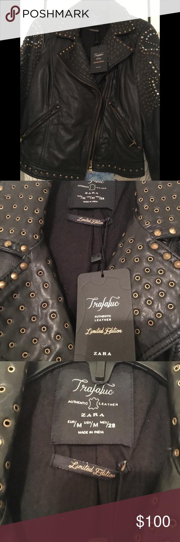 Zara Trafaluc Authentic Leather Jacket Limited E Authentic Leather Leather Jacket Zara [ 1740 x 580 Pixel ]