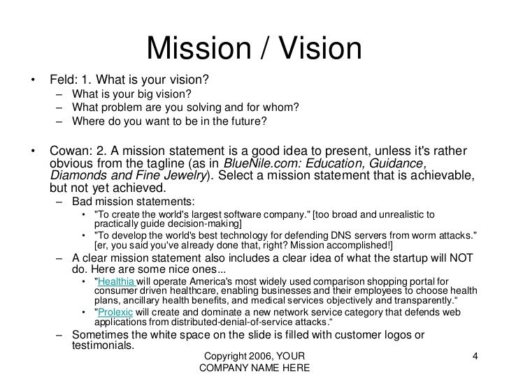 Vision statement examples for business yahoo image for Vision statement template free