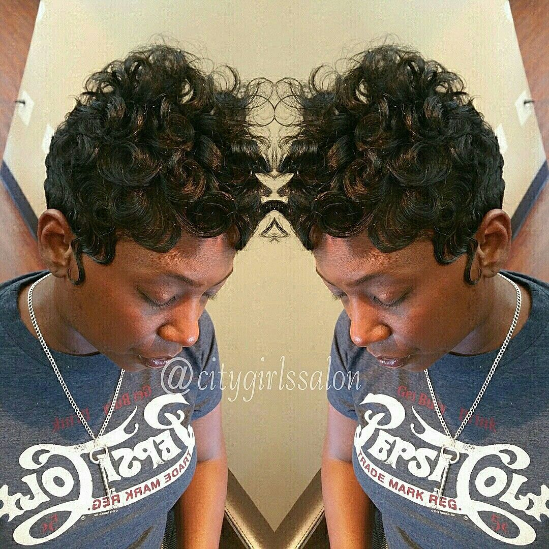 Short hair,  African American styles,  pincurls,  finger waves
