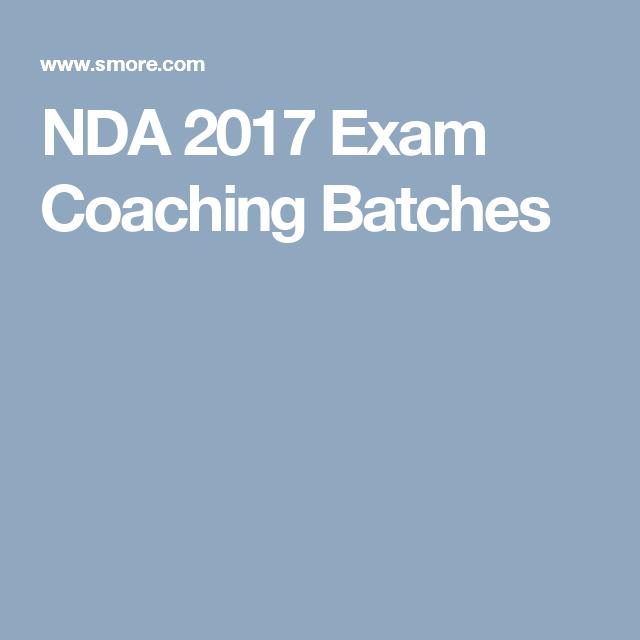 NDA 2017 Exam Coaching Batches