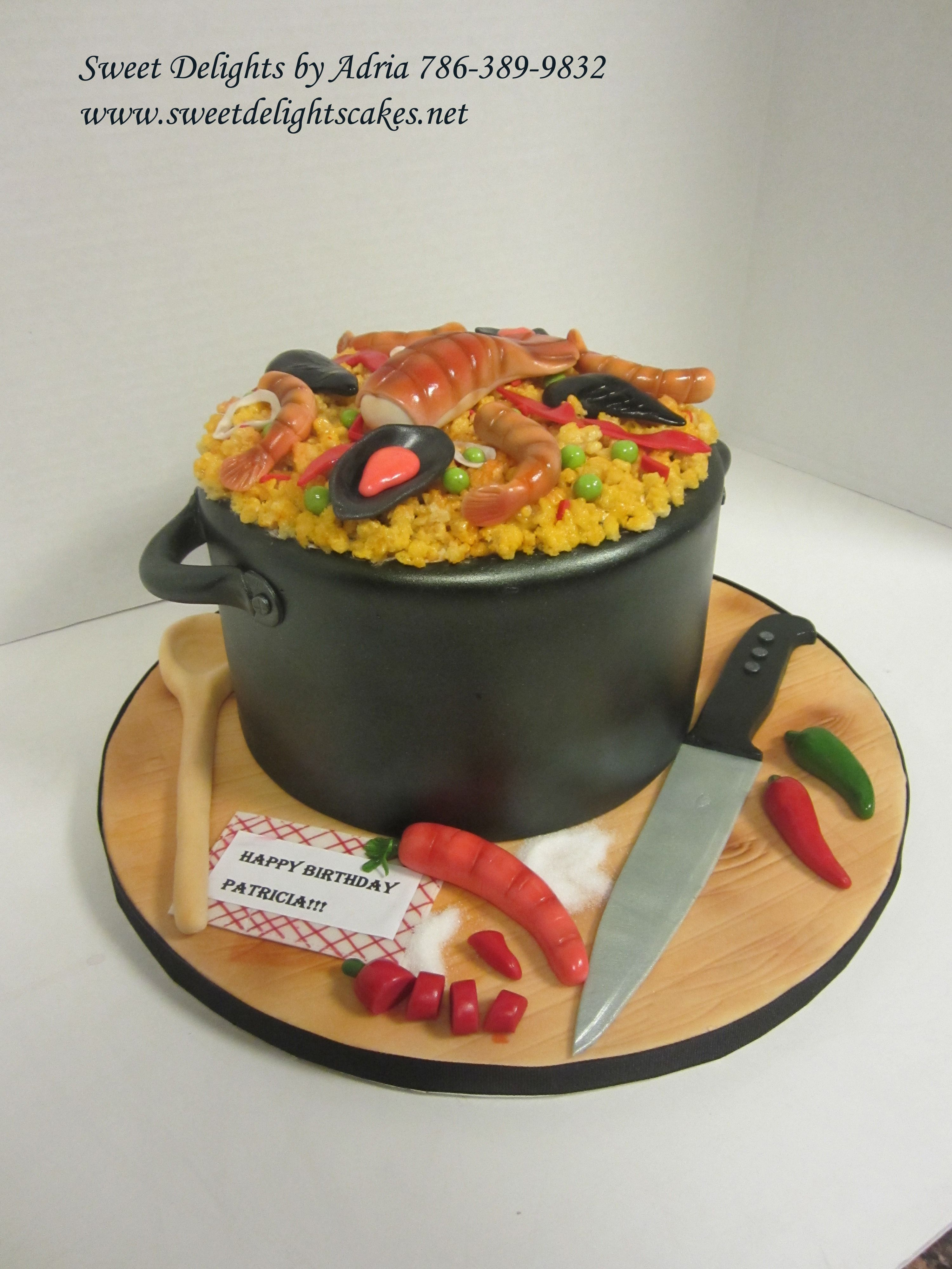 Paella birhday cake Sweet delights, Birhday cake, Custom