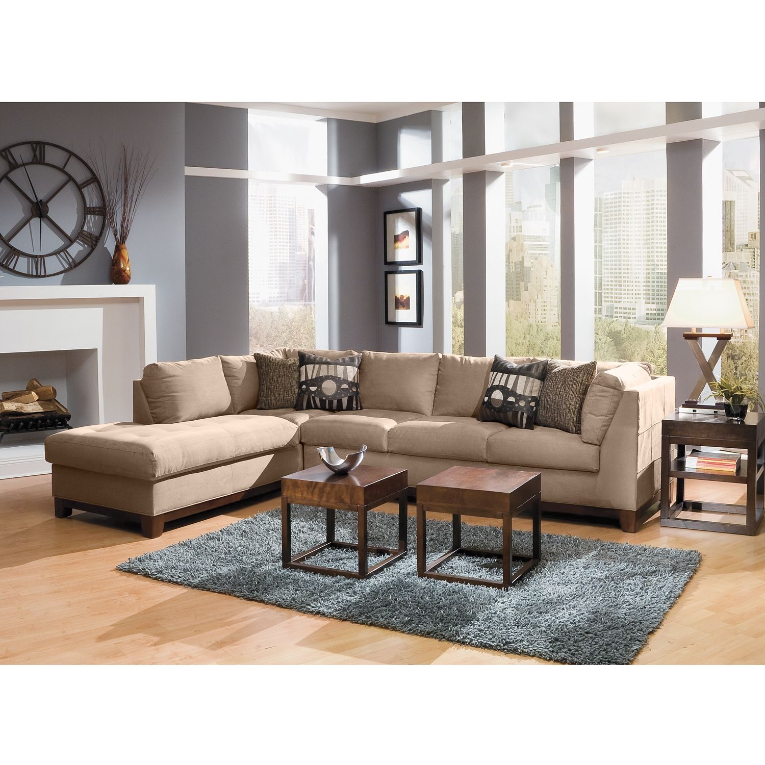 Living Room Furniture Soho II 2 Pc Sectional Reverse from