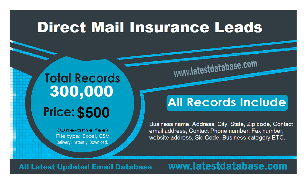 Directmailinsuranceleads The Insurance Industry Is A Highly