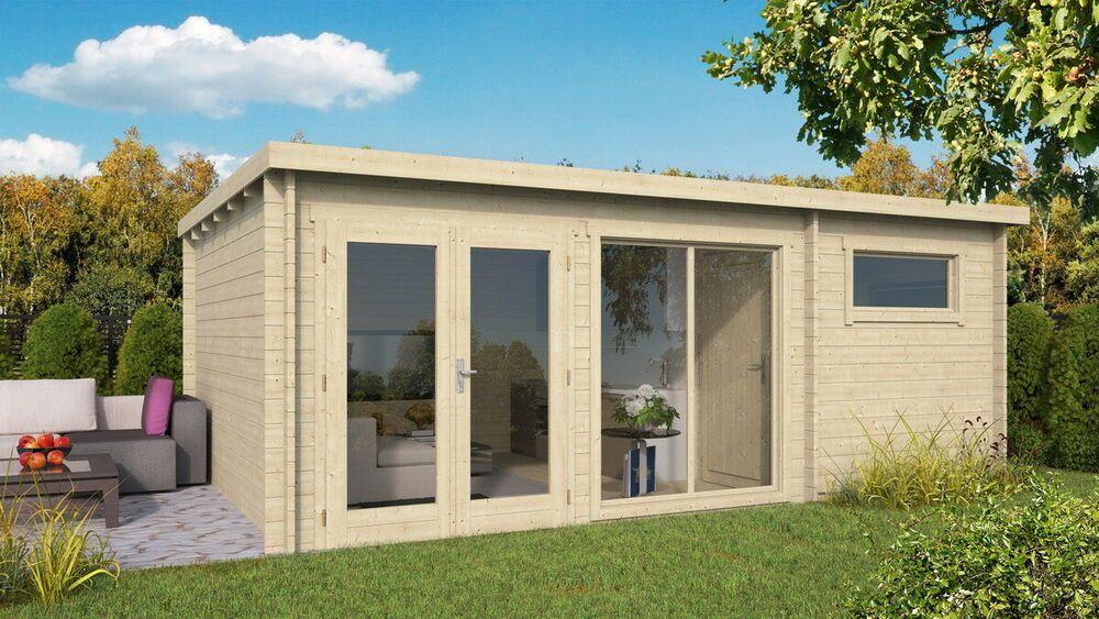 Details zu Topgarden Gartenhaus FINE; 595x400 cm ISO