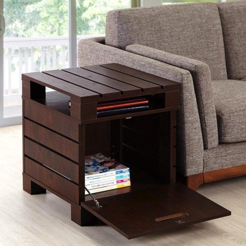 Wood Pallet End Table for Living Room in Crete Small Design with ...