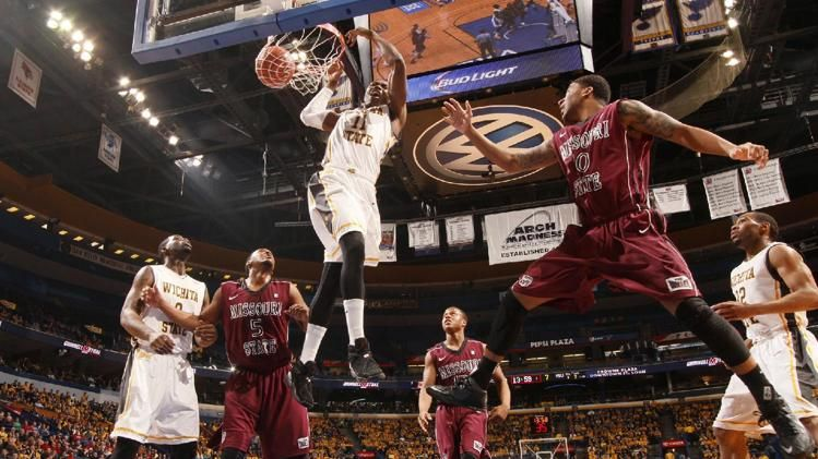 Wichita State forward Cleanthony Early tips the ball in