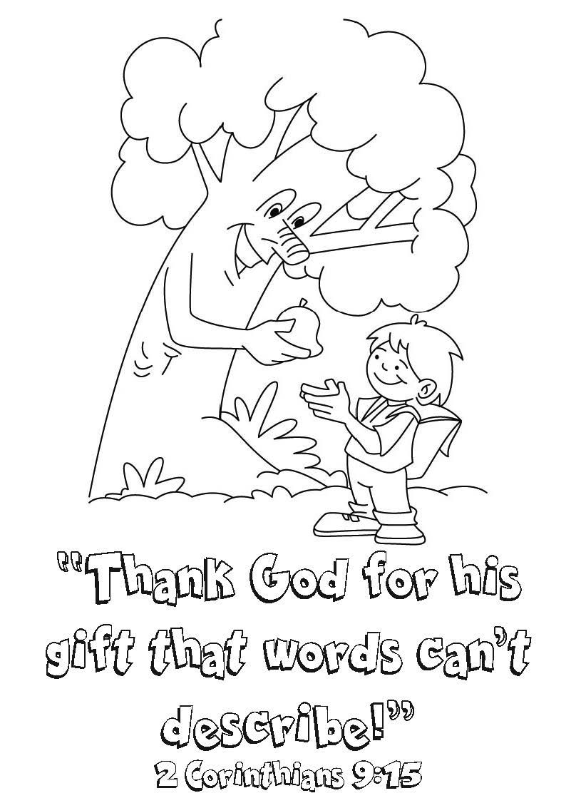 2 Corinthians 915 Coloring Page Thanks Be To God