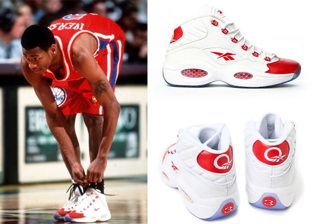 Superior Corresponsal Cena  Allen Iverson - Rookie of the Year - Reebok Question | Sneakers, Sneaker  brands, Converse chuck taylor high top sneaker