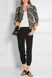 By Malene Birger Hieta crepe track pants