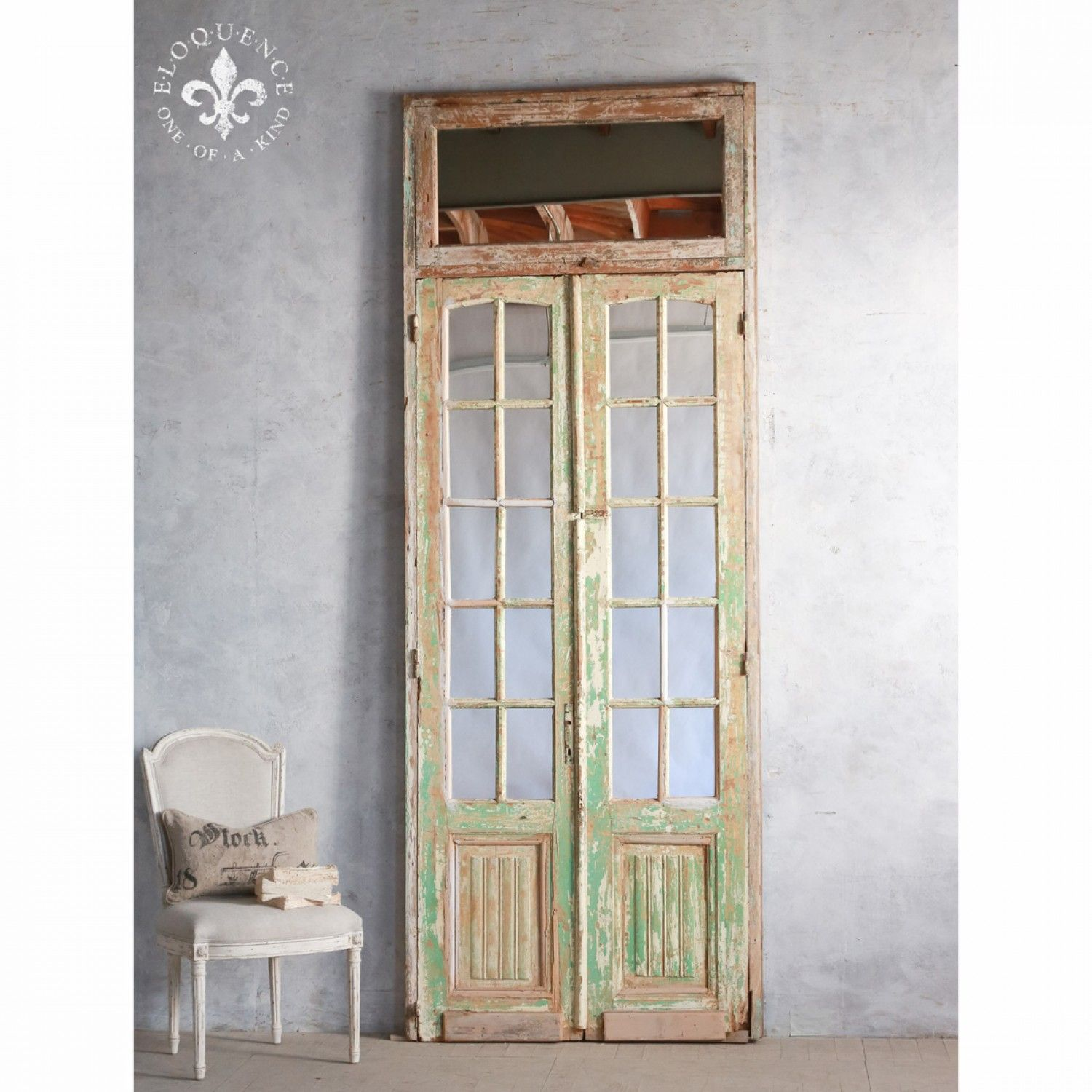 French doors the real inspector hound pinterest for Cream french doors