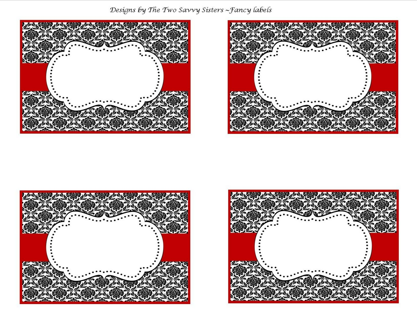 fancy christmas TAGS | Chic Valentines Fancy Blank Labels ...