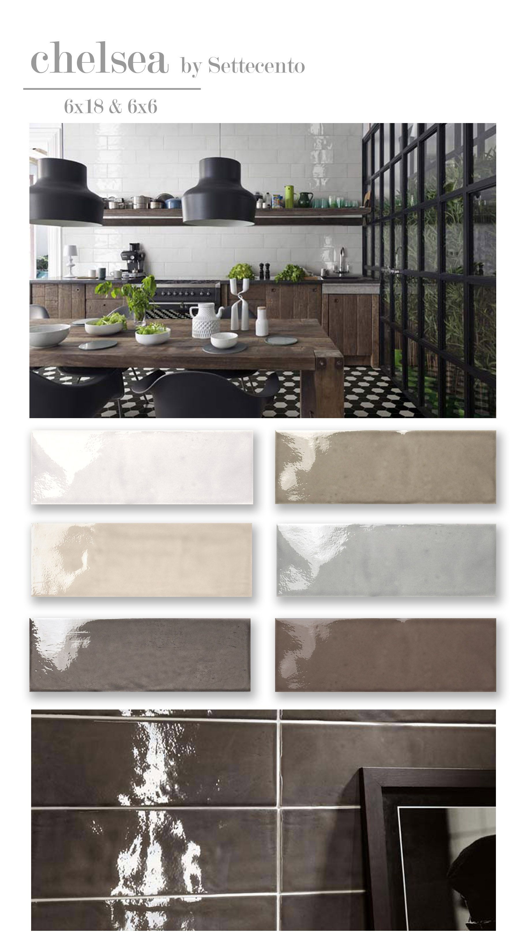 Settecento Chelsea Double Fired White Body Ceramic Tile